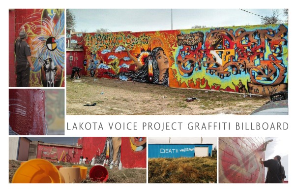 Lakota Voice Project Graffiti Billboard